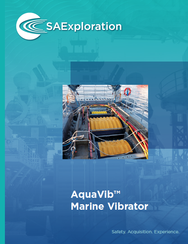 SAExploration's AquaVib™ Marine Vibrator is a towable marine source that generates seismic energy equivalent to airguns, at reduced sound pressure levels