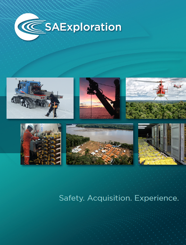 SAExploration is a global geophysical services company focused on providing leading seismic data acquisition, processing services and technology
