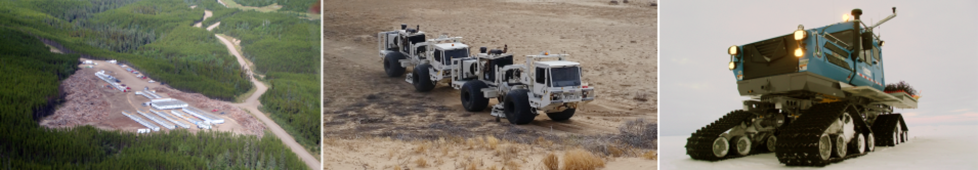 The comprehensive planning and design of a geophysical program is critical, complex and an area in which SAExploration excels.  SAExploration's fleet of vibrators ranging from 15,000 to 80,000 pounds in buggy, track and truck- mount configurations . SAExploration can meet the challenges across all operational theaters from remote arctic to urban seismic acquisition environments