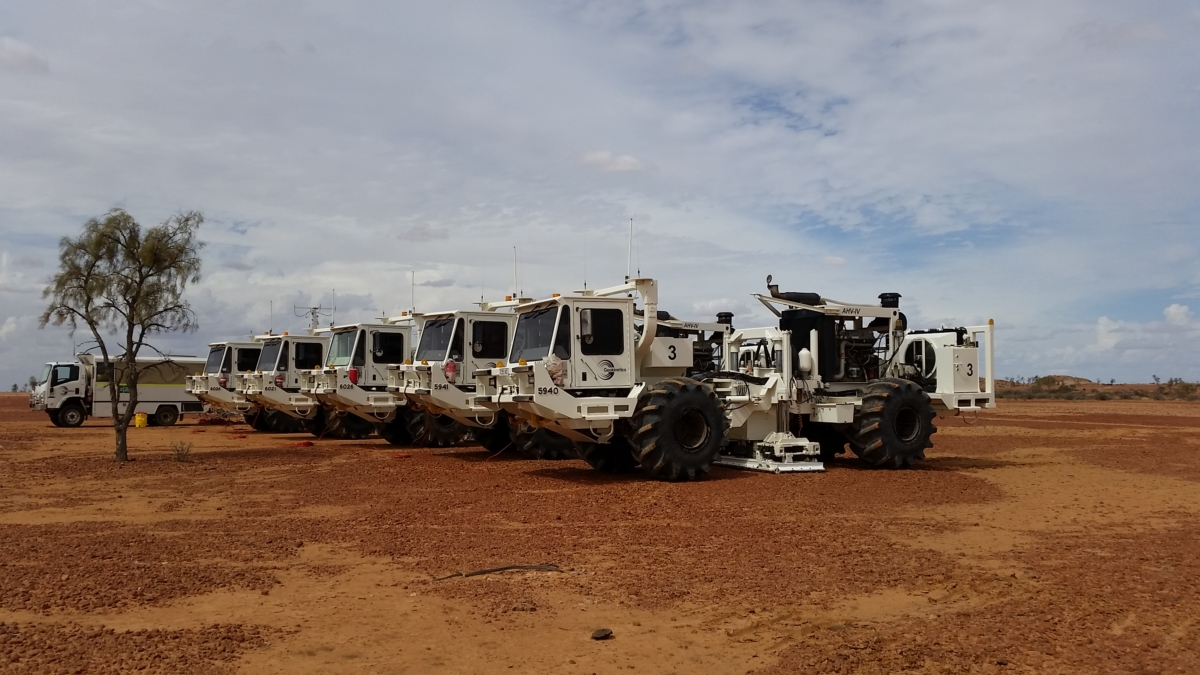 SAExploration's fleet of vibrators ranging from 15,000 to 80,000 pounds in buggy, track and truck- mount configurations