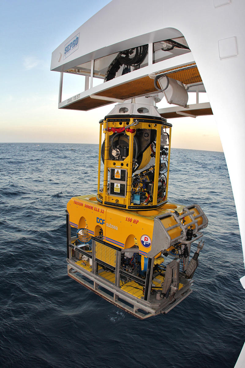 SAExploration's ROV is supplemented with the most advanced survey instrumentation for accurate and precise subsea positioning of each OBN unit deployed