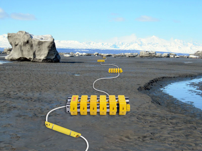 Transition-zone seismic data acquisition is similar to shallow-water applications in that both hydrophones and geophones are deployed with small, shallow-draft vessels